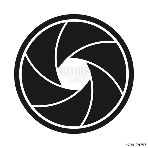 clip Aperture vector. Curved camera stock image.