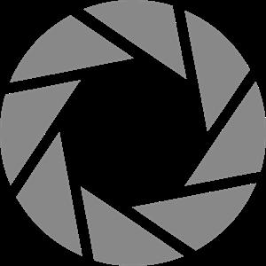 vector black and white Aperture Logo Vectors Free Download