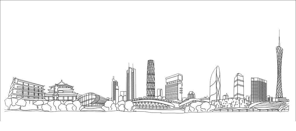 clipart freeuse stock timelapse drawing cityscape #104876833