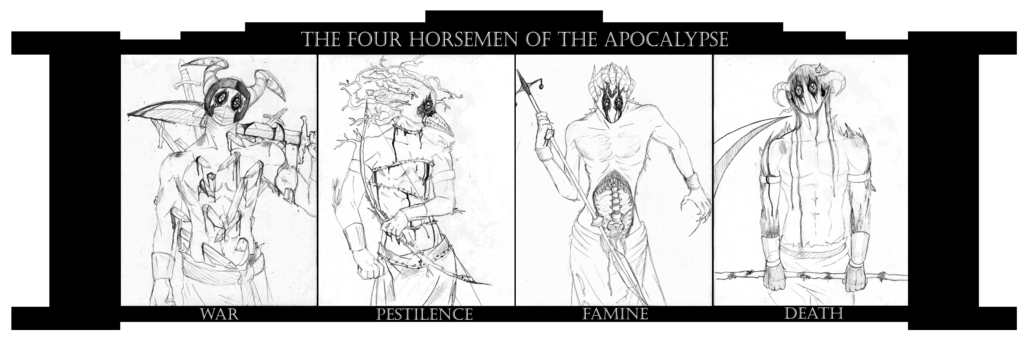 clip art library download Four Horsemen of the Apocalypse