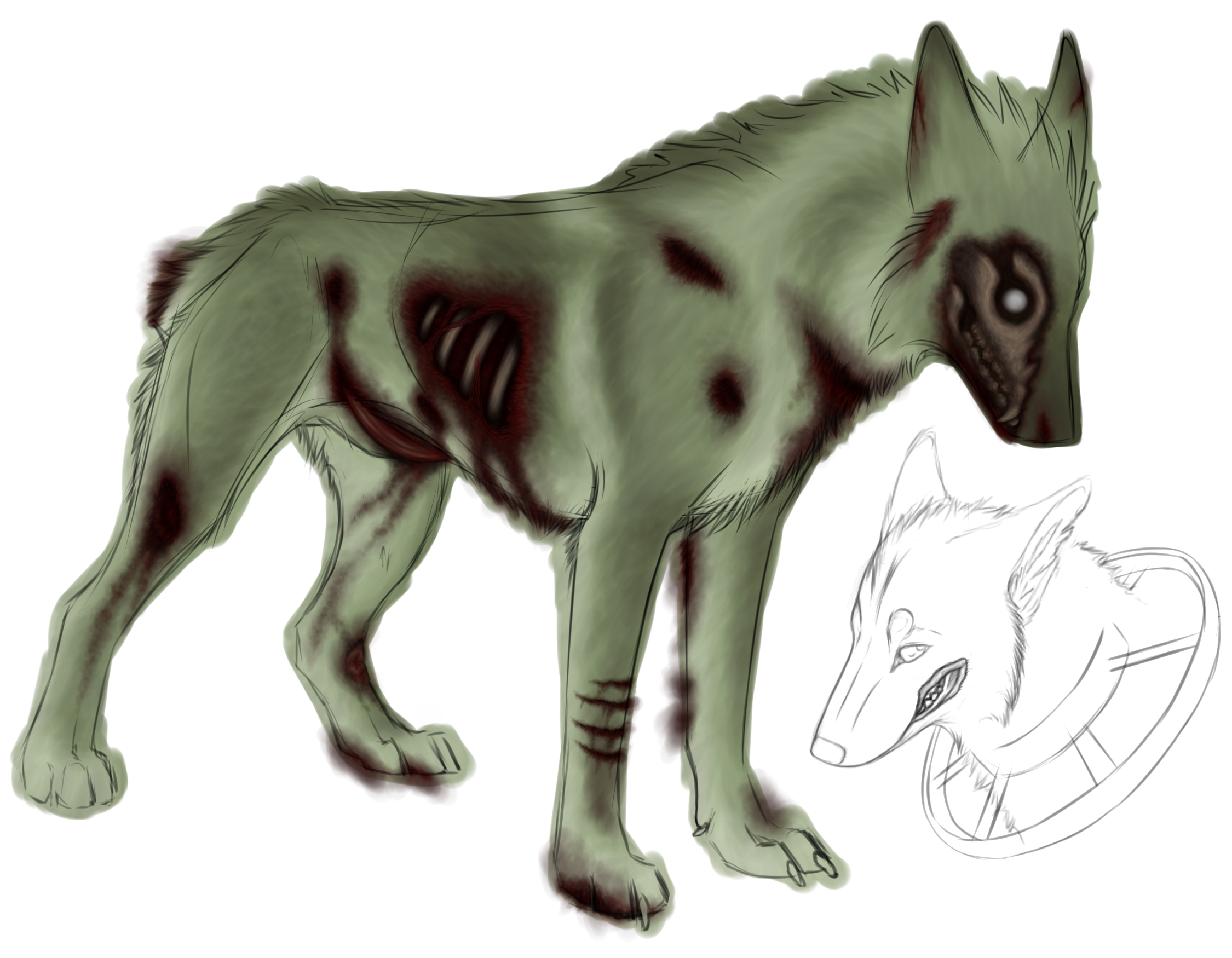 transparent Zombie Dog Drawing at GetDrawings