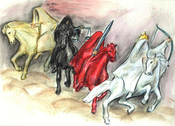 jpg free library The four horsemen of. Drawing bible apocalypse