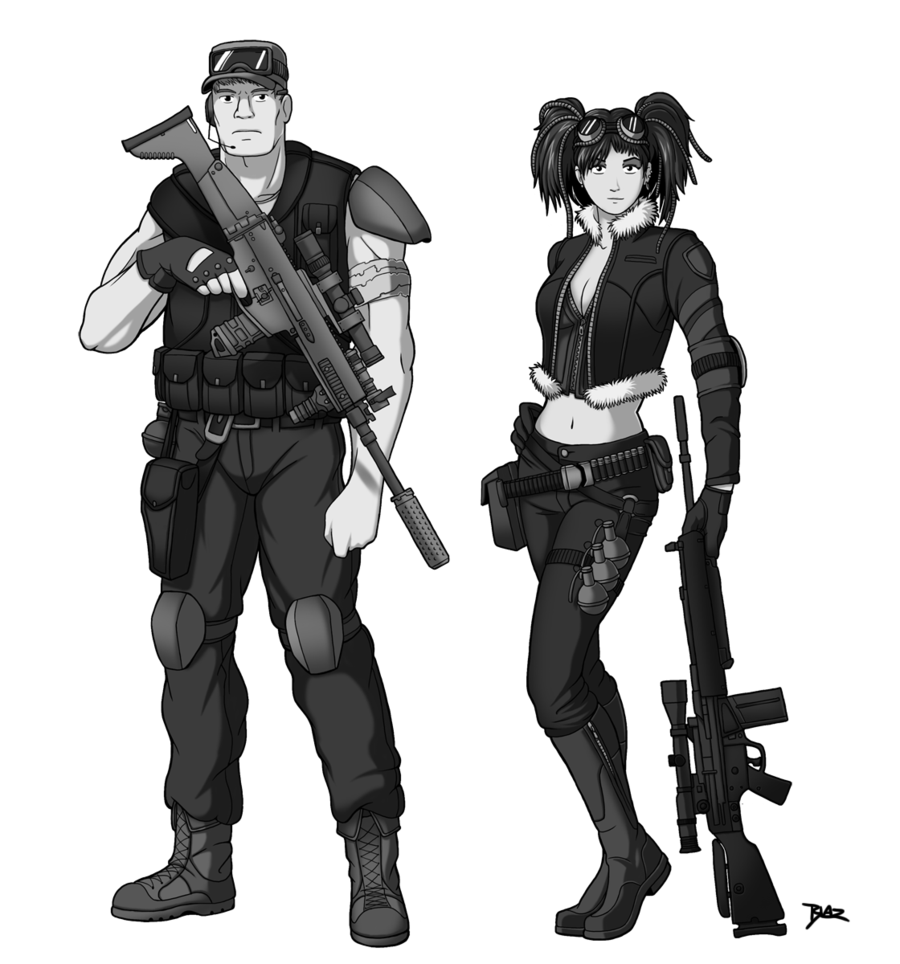 vector library library Post Apocalyptic Character Designs by Blazbaros on DeviantArt