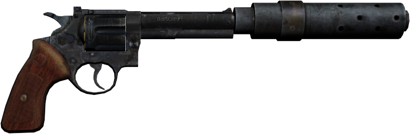 clipart free download The silenced revolver from Metro Last Light