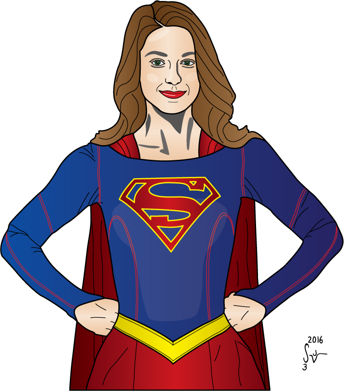 graphic free library Supergirl Drawing at GetDrawings