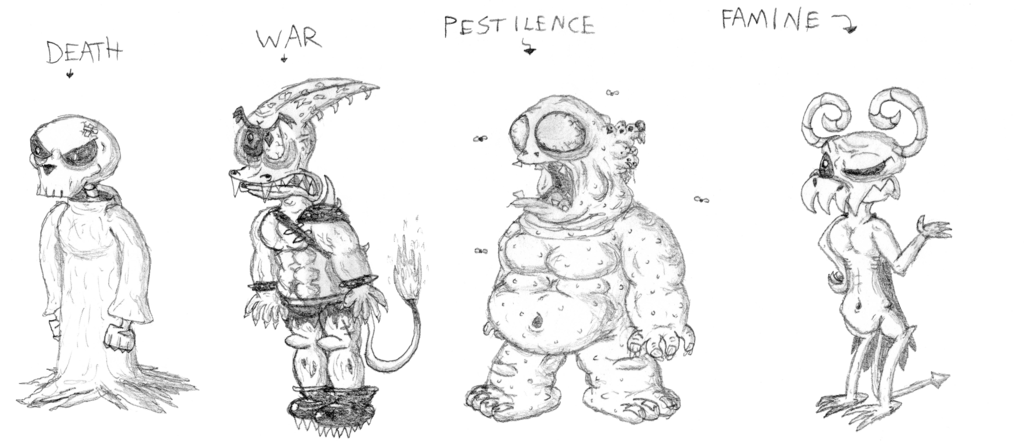 image transparent download Four Horsemen of the Apocalypse Sketches by BowserJrDude on DeviantArt