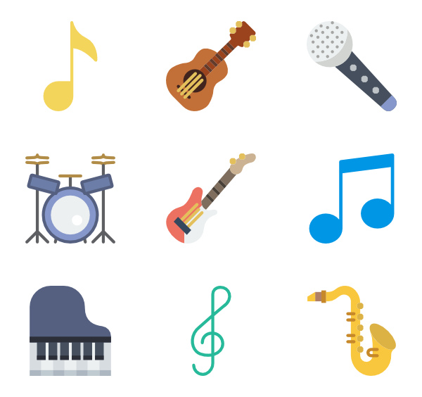 clip stock Vector color music. Applause clipart band musical