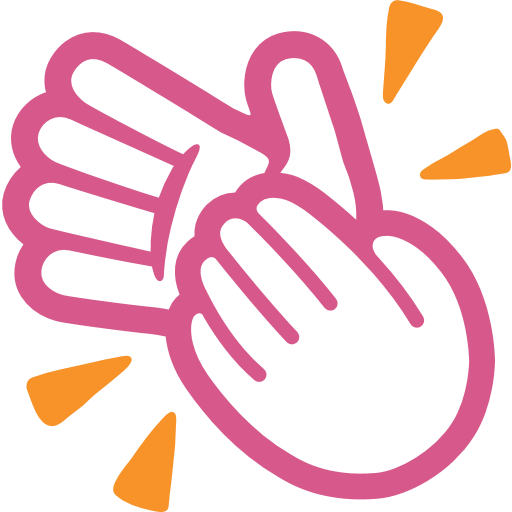 vector black and white Hands icon sign emoji. Hand clipart clapping
