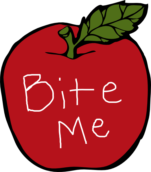 clip art free stock Bite Me Apple Clip Art at Clker