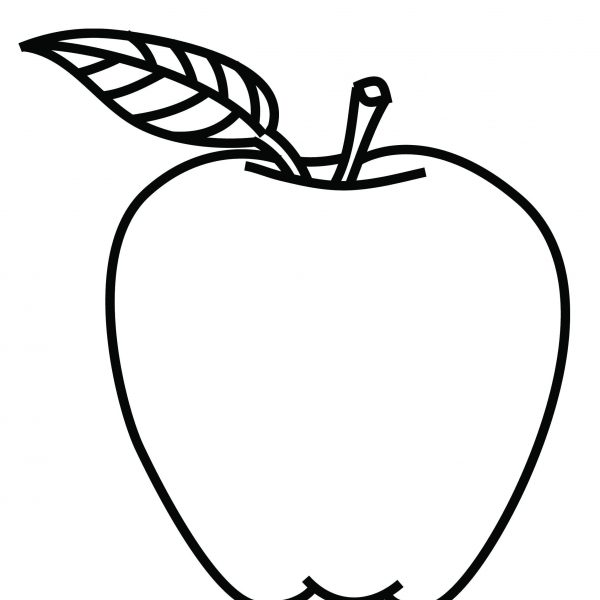 graphic transparent download Apple tree coloring book. Black and white apples clipart.