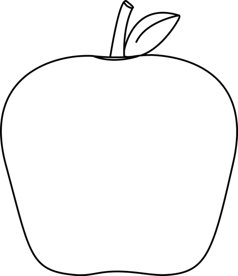clip freeuse stock Apple clip art image. Black and white apples clipart