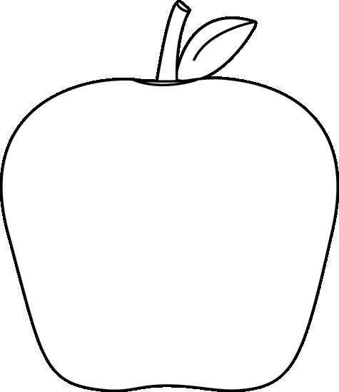 jpg freeuse Black and White Apple Clip Art