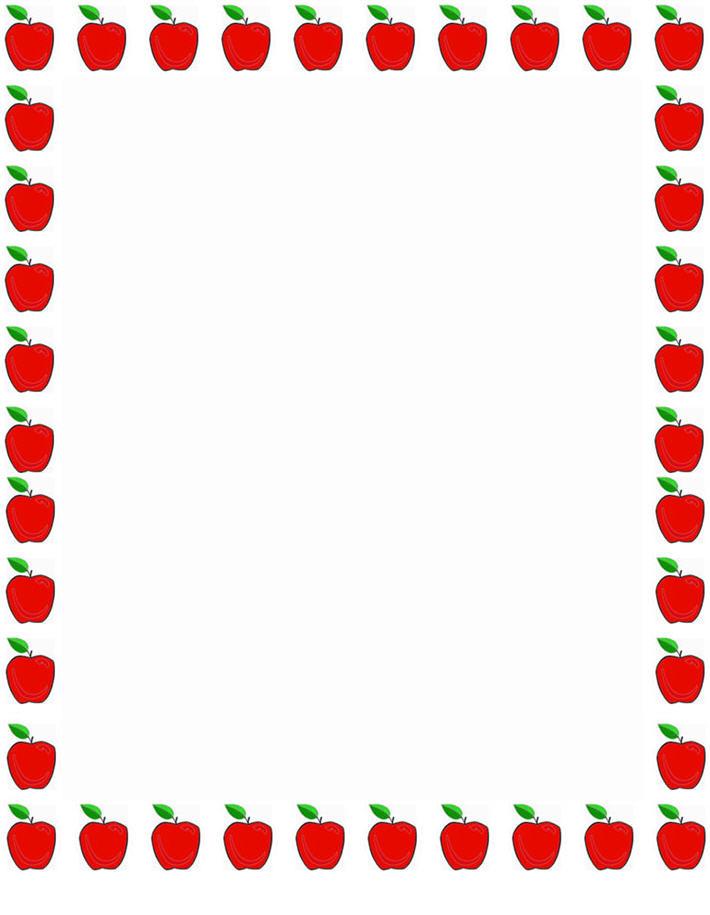 image stock Apples border clipart. Teacher apple panda free