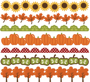 clipart freeuse stock Fall Borders SVG cut files autumn svg files pumpkin border leaf
