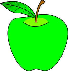 vector transparent library Green apples clipart. Apple clip art at.
