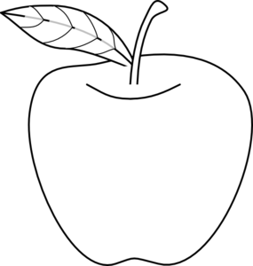 vector library library Apple Outline Clip Art at Clker