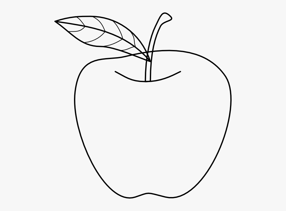 graphic freeuse download Apples transparent drawing. Black and white apple