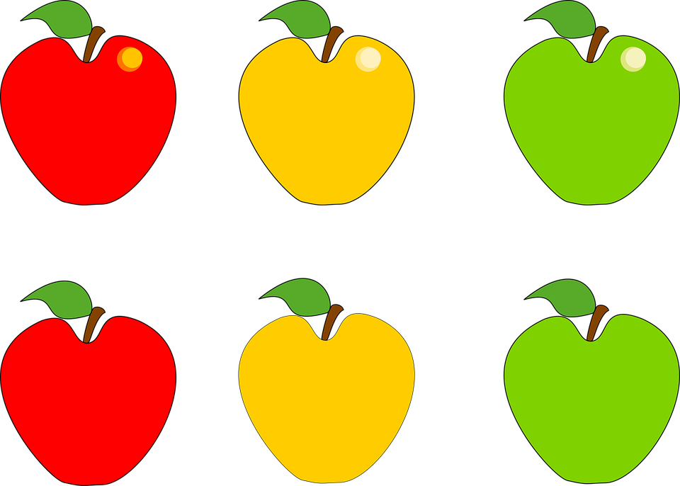 clipart freeuse Yellow Red Green Apple