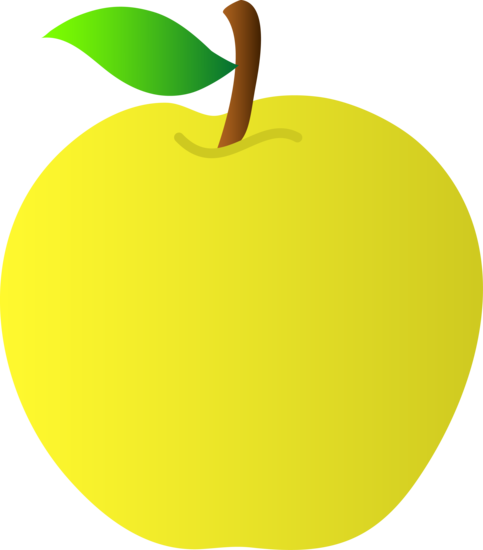 jpg royalty free library Yellow apples clipart. Apple vector art free.
