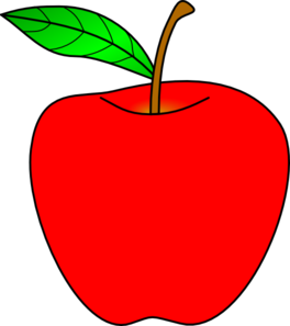 clip art royalty free stock Red Apple Clip Art at Clker