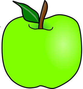 image black and white Green Delicious Apple Clip Art at Clker
