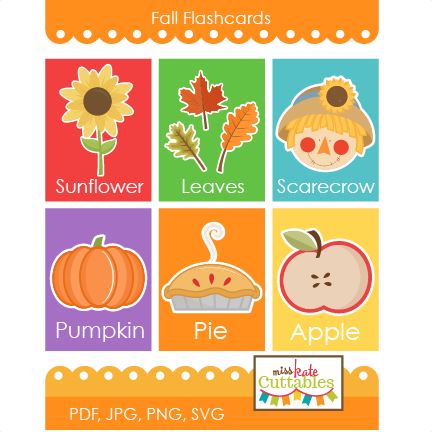 picture royalty free Flashcards printables svg scrapbook. Fall food clipart