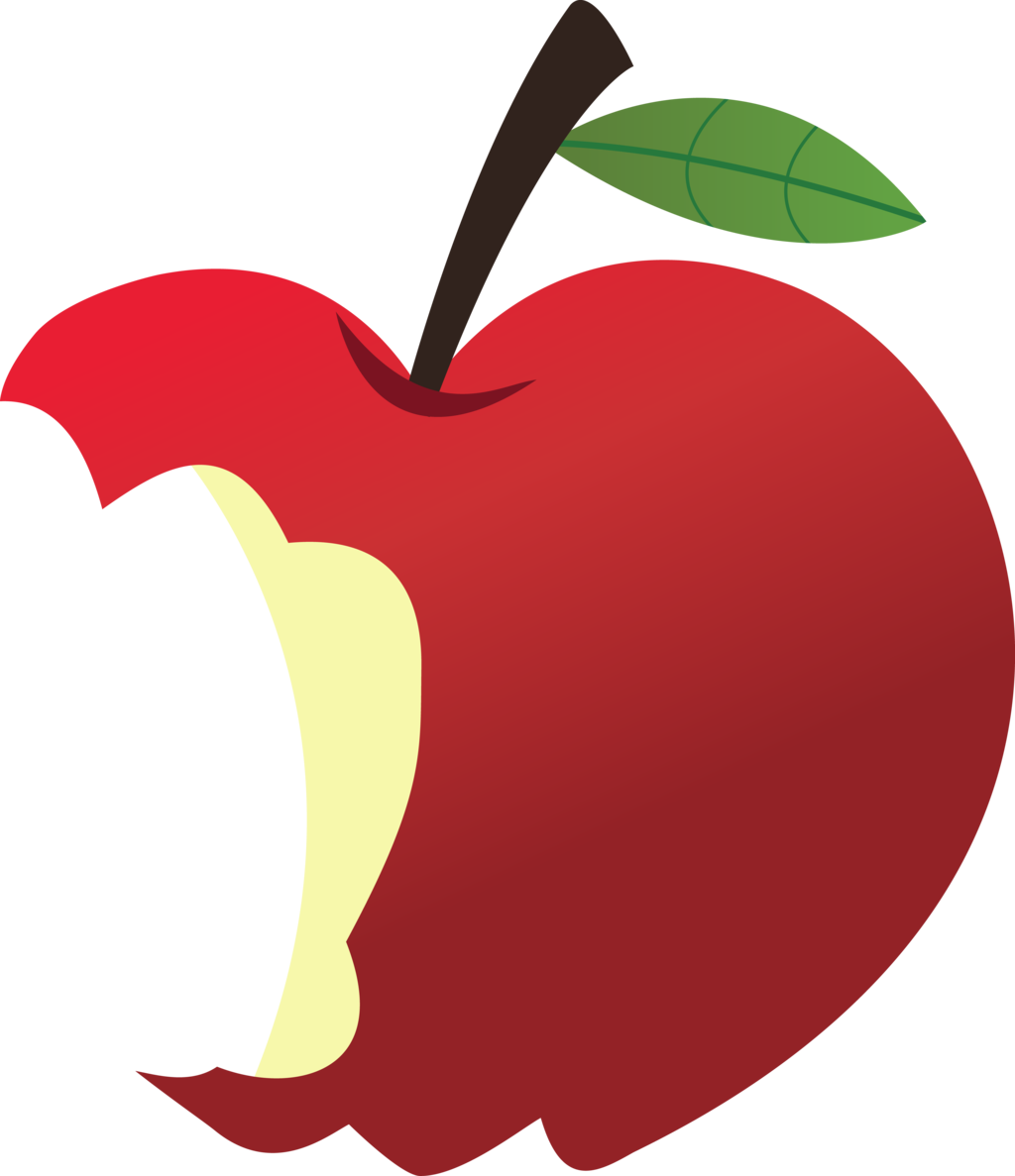 picture royalty free Apple clipart imagens de. Vector apples bitten