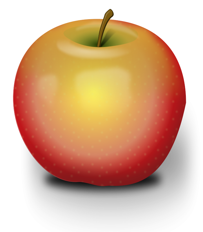 picture royalty free library Apples clipart free. Red apple large images