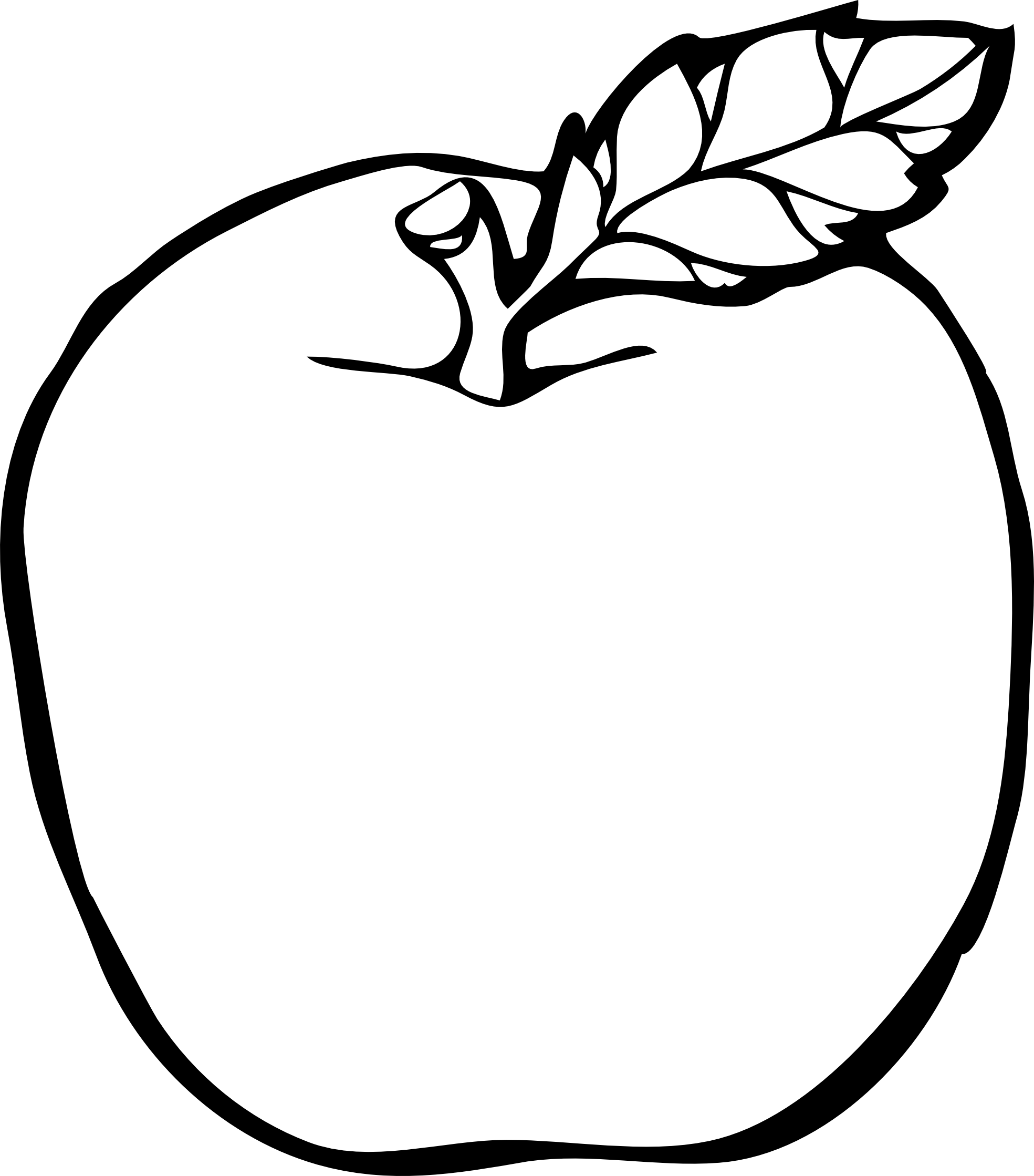 jpg library library Vector apples lineart.  collection of apple