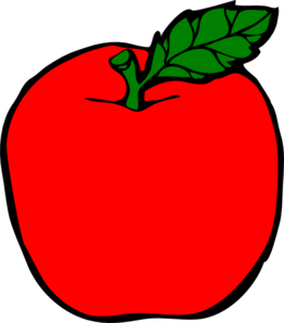 picture free library Red Apple Clip Art at Clker