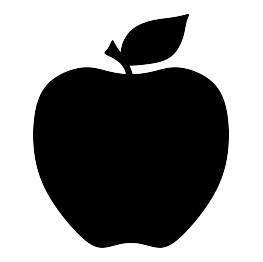 image transparent download Vector apples silhouette. Free svg apple graphics