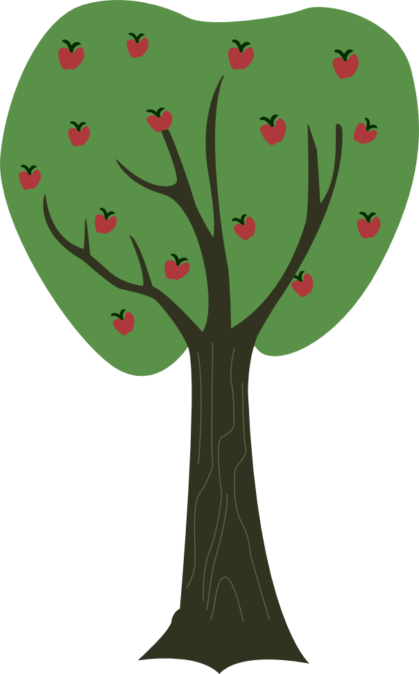 clip freeuse stock Vector apples tree. Apple by a on