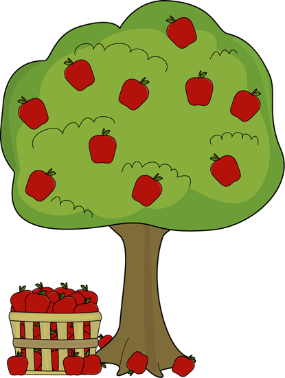 graphic freeuse Apple tree clip art. Fall apples clipart