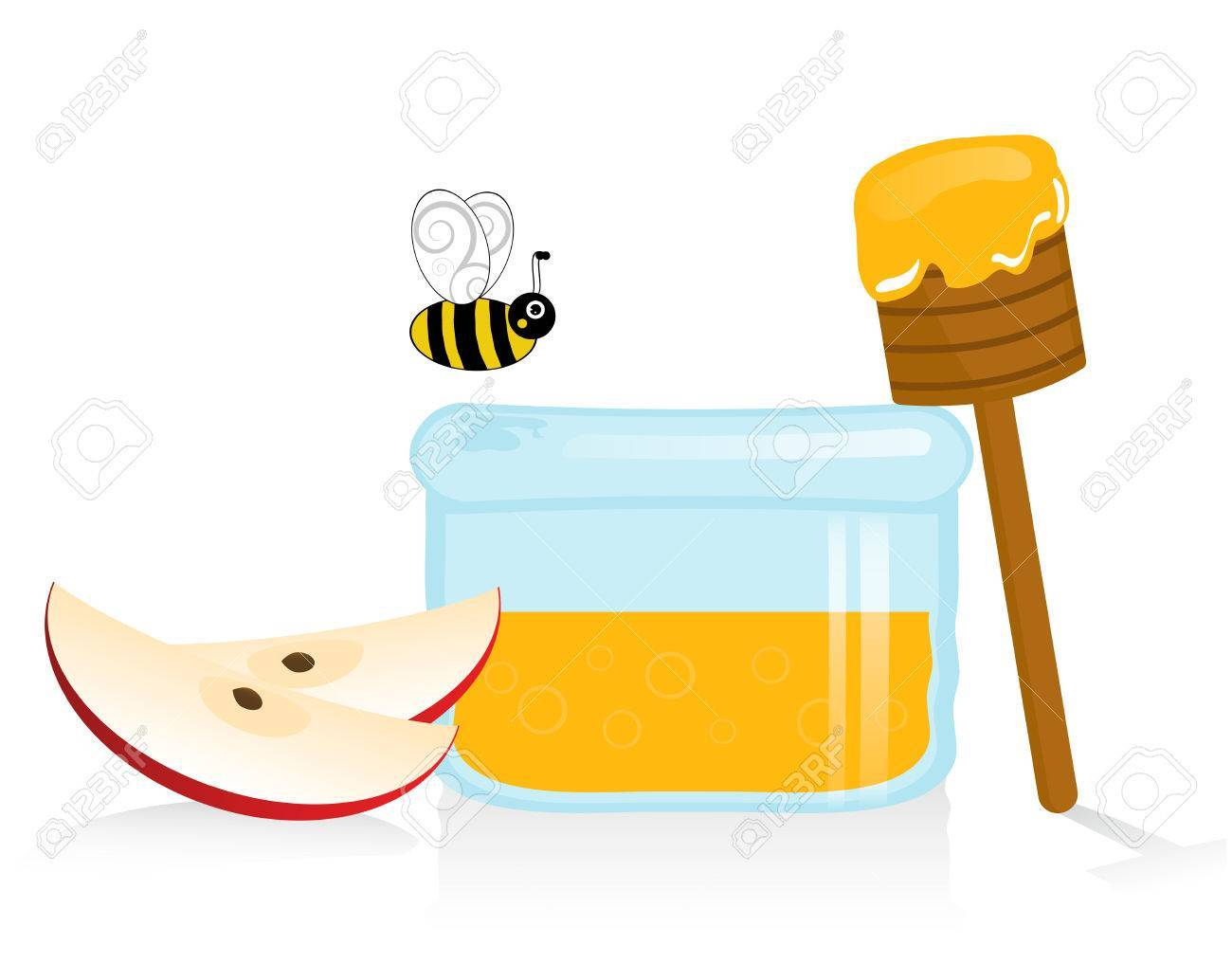 image free library Portal . Apples and honey clipart.