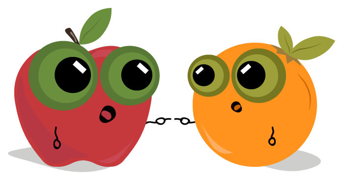 svg library download Teamcity vs buildmaster move. Apples and oranges clipart.