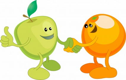 clip art transparent stock Kid clipartbarn . Apples and oranges clipart.