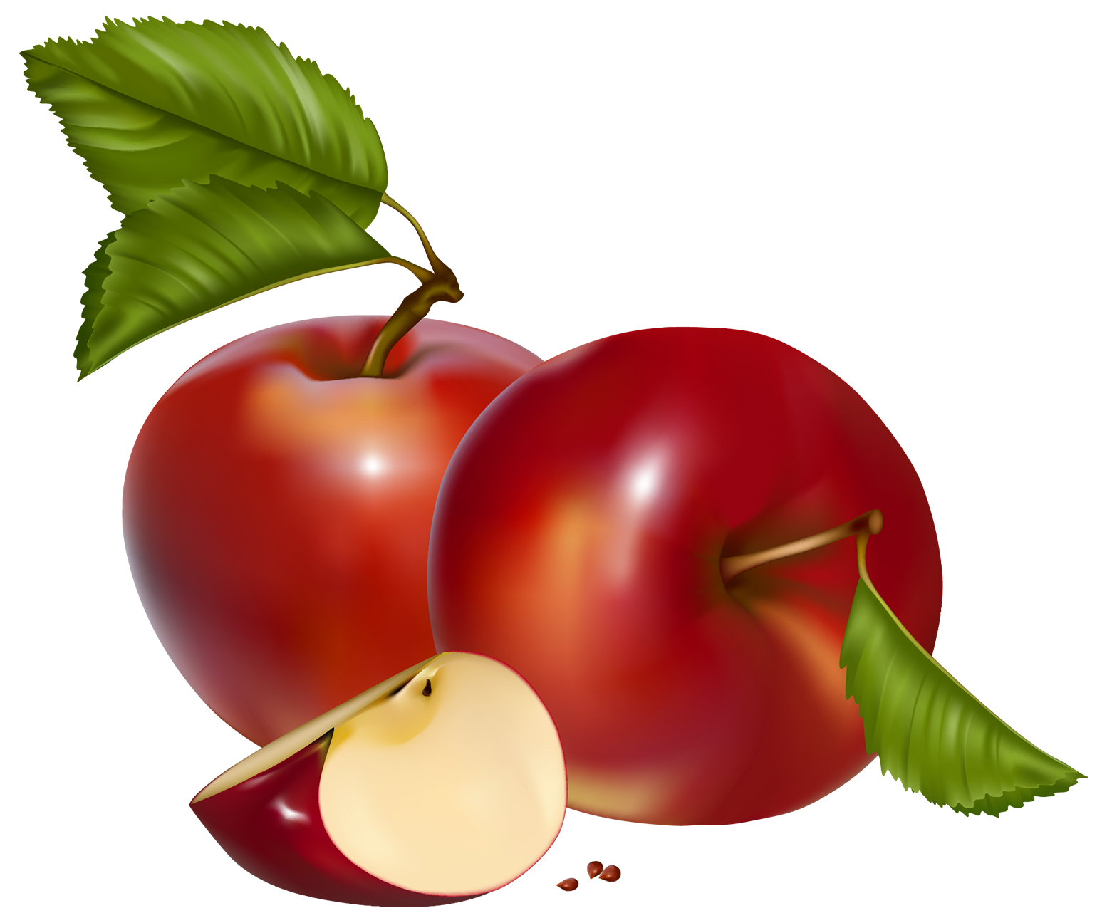 clipart transparent library Apples clipart. Red png best web.