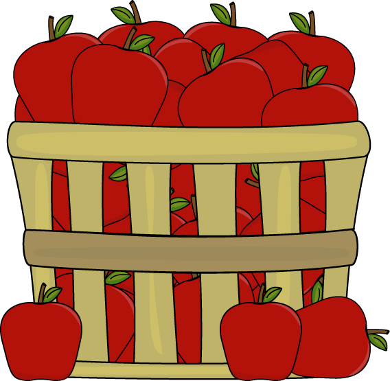 royalty free Bushel of . Apples clipart