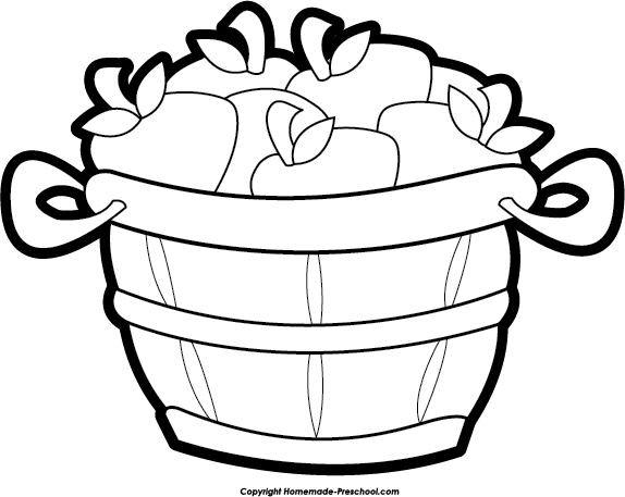 clip art library stock Apples clipart black and white. Bushel of panda free