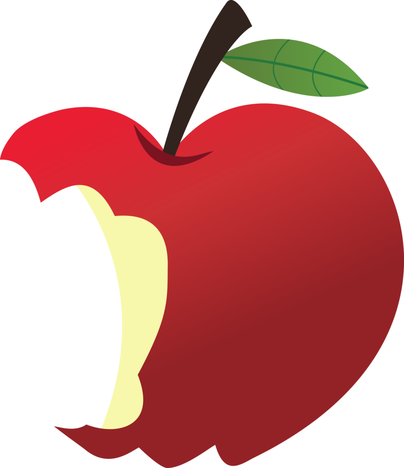 royalty free download Eaten Apple Clip Art