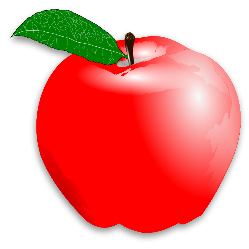 picture royalty free stock red apple clipart