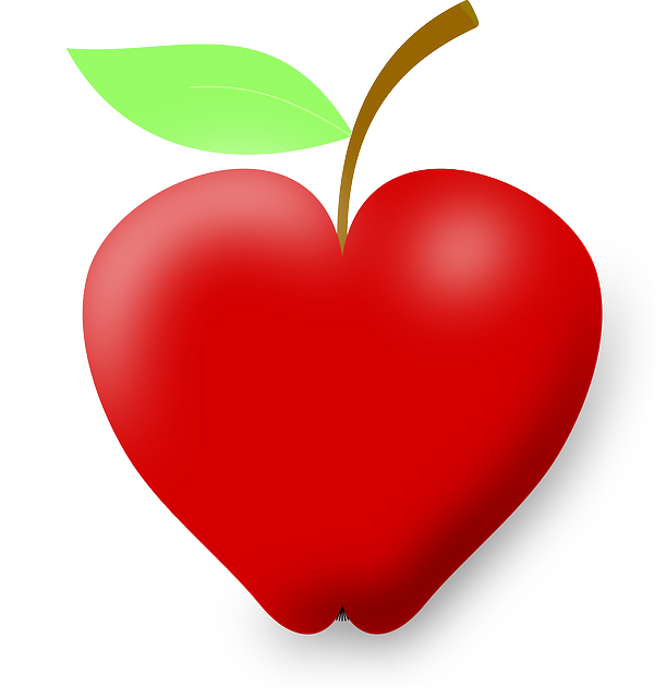 image royalty free library apple heart clipart #56829570
