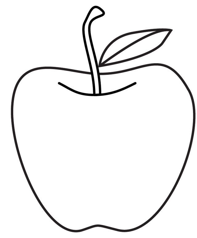 graphic freeuse Apple line drawing at. Apples clipart black and white