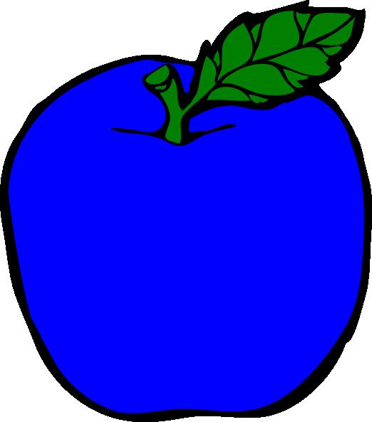 jpg library Dark Blue Apple Clip Art at Clker