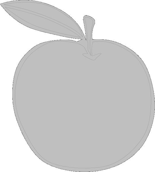 clip art royalty free stock Gray Apple Ever Clip Art at Clker