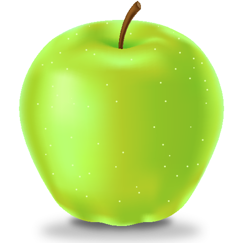 vector black and white library Vector apples transparent. Green apple icon fruits