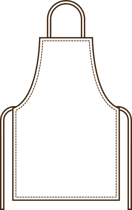 banner royalty free download Aprons high end uniforms. Apron clipart