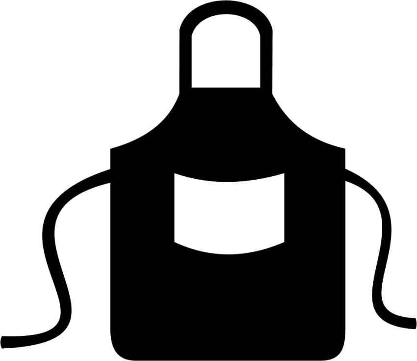 png transparent library Kitchen png free images. Apron clipart black and white