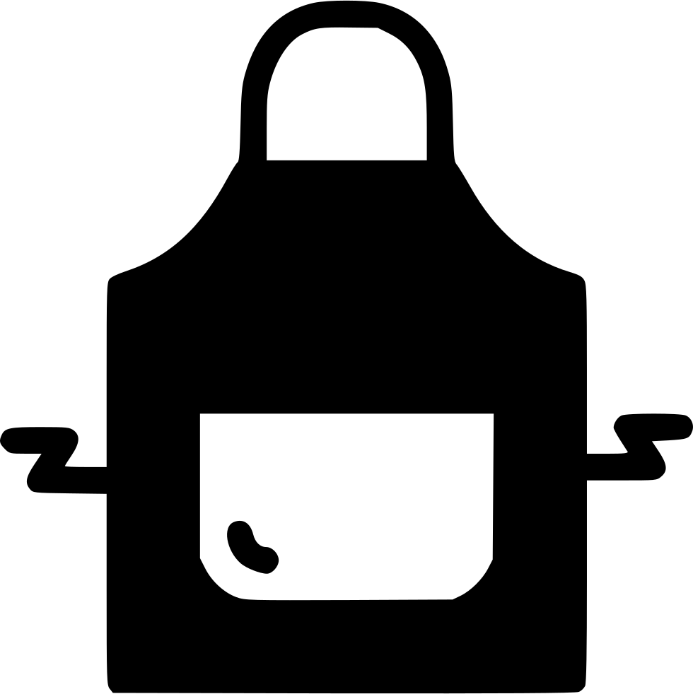 clip black and white library Apron clipart safety apron. Cook restaurant wear svg.