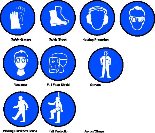clip art royalty free download Apron clipart safety apron. Ppe symbols clip art.